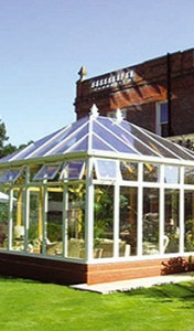 Security in wood conservatories
