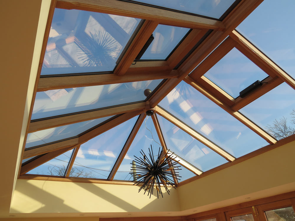 Oak Orangery Electric Roof Vents
