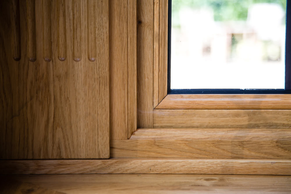 Oak Window Internal Glazing Beads