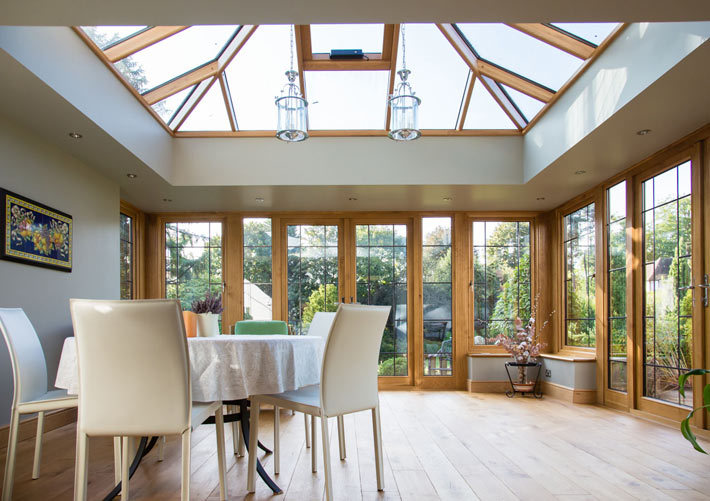 Lovely Warm Wooden Conservatories and Orangeries from Richmond Oak