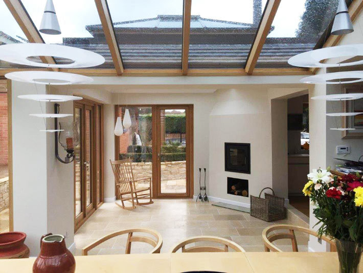 Wooden Orangery - Cosy all year round