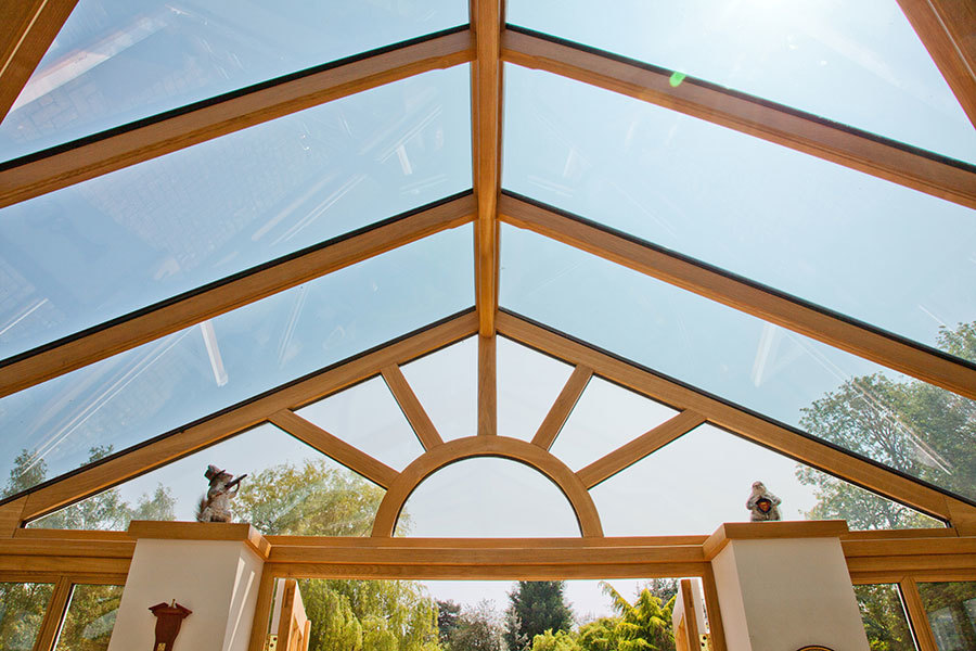 Solar controlled conservatory glass
