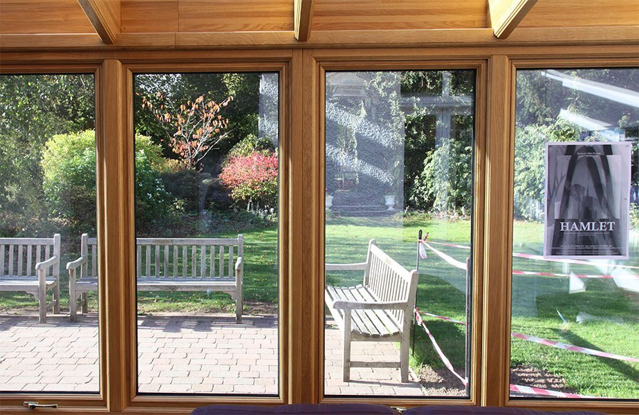Bespoke Oak Conservatory in Commercial Environment