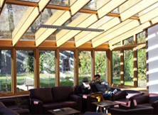 Quality Oak Conservatory in Commercial Environment