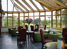 Wood Conservatory in Commercial Environment