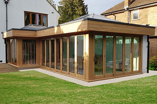 Browner Oak Contemporary Orangery - Case Study
