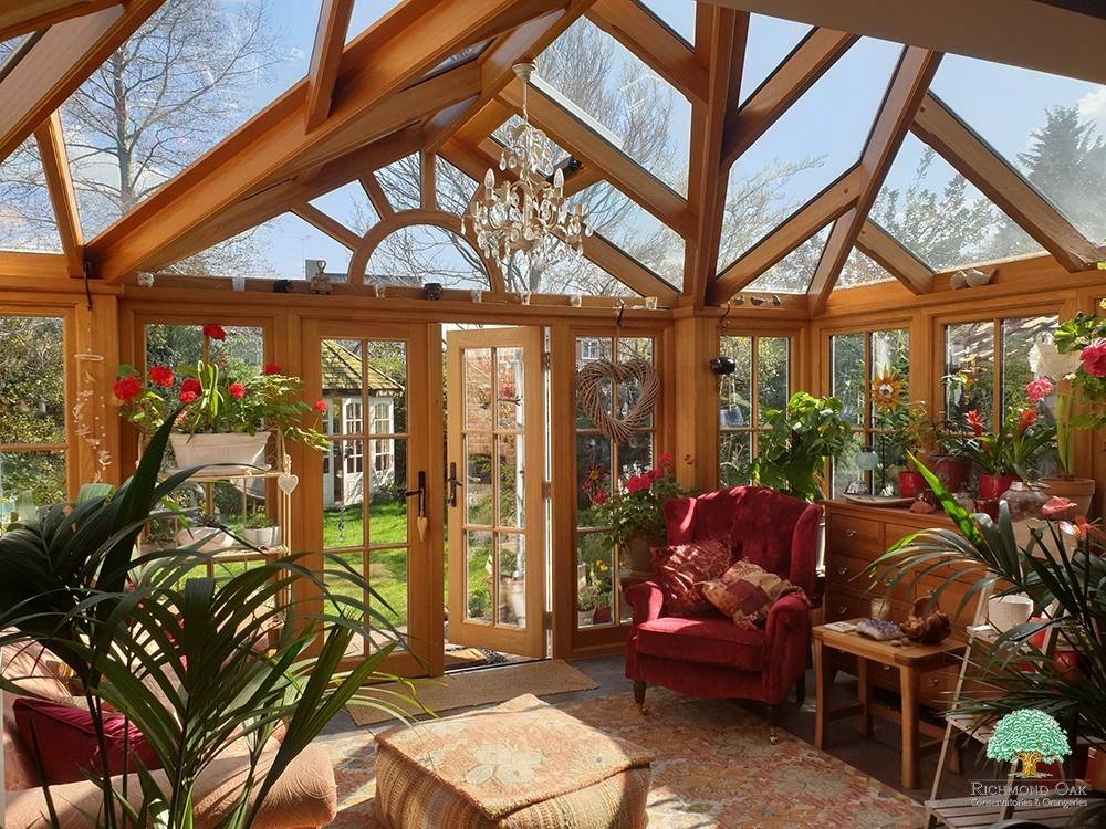 Seasoned oak Victorian style conservatory