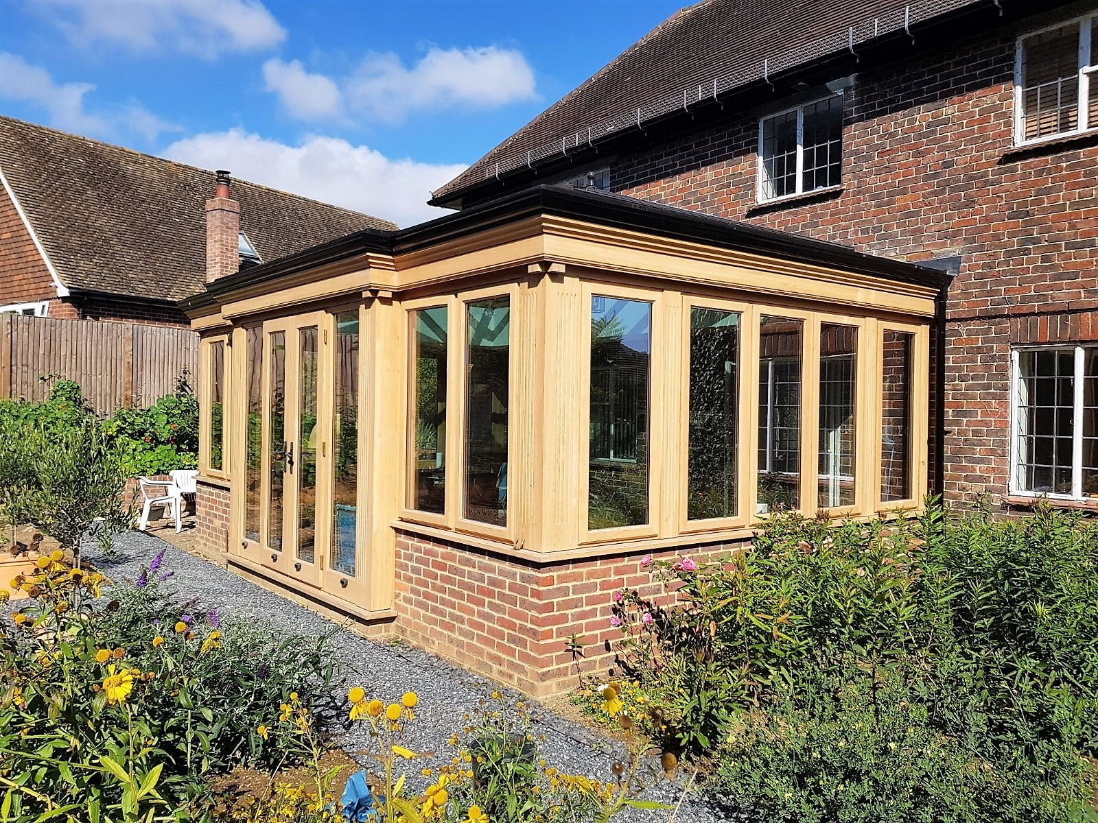 oak framed orangery extensions in Kent