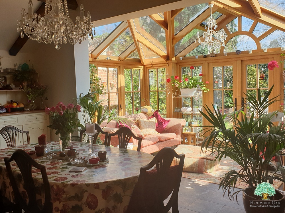 Oak Victorian style conservatory in Surrey