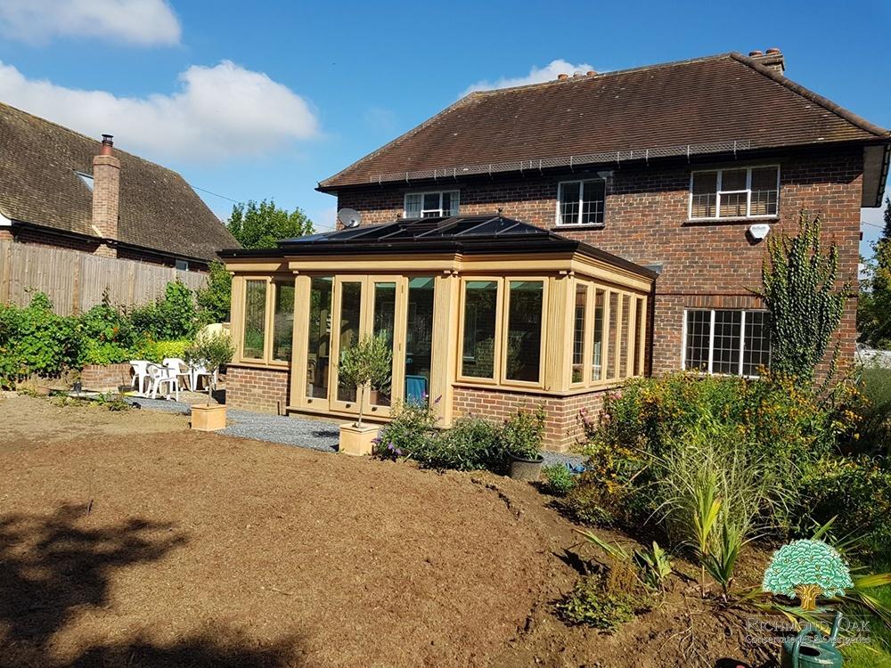 Oak orangery on a Listed Property in Kent