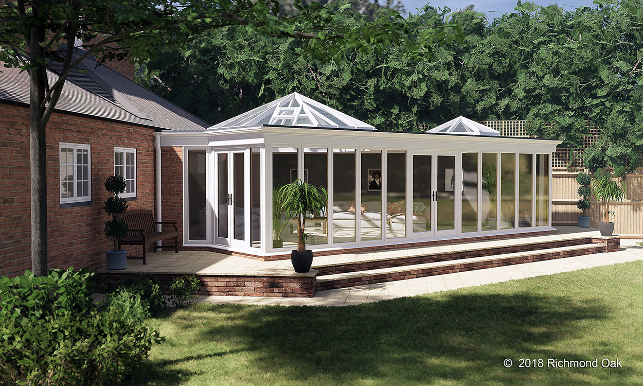 Bespoke seasoned oak orangery 3D design concept
