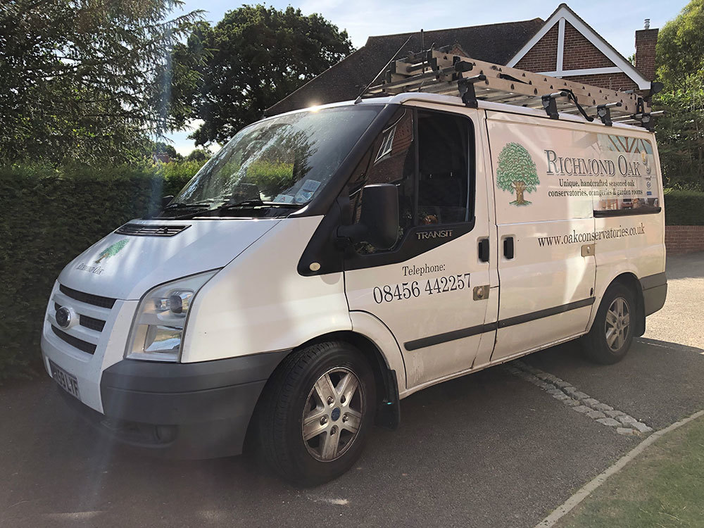 Richmond Oak Conservatories Company Van