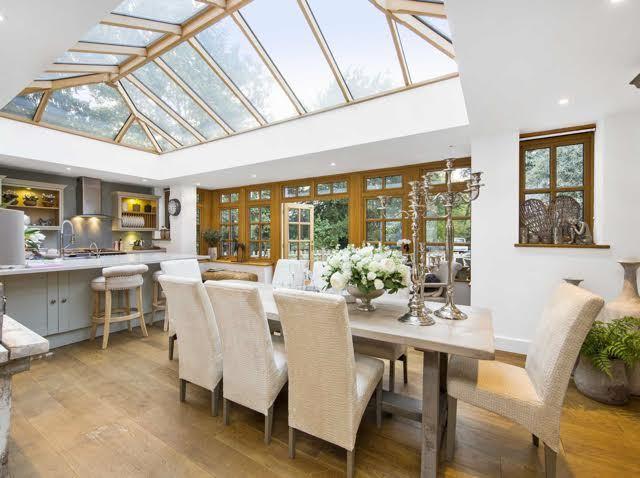 wooden orangery kitchen extension