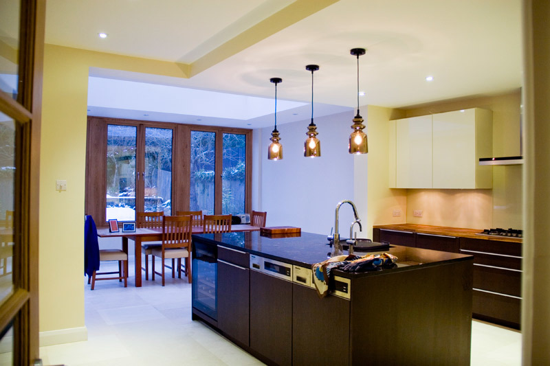 hardwood orangery kitchen extension