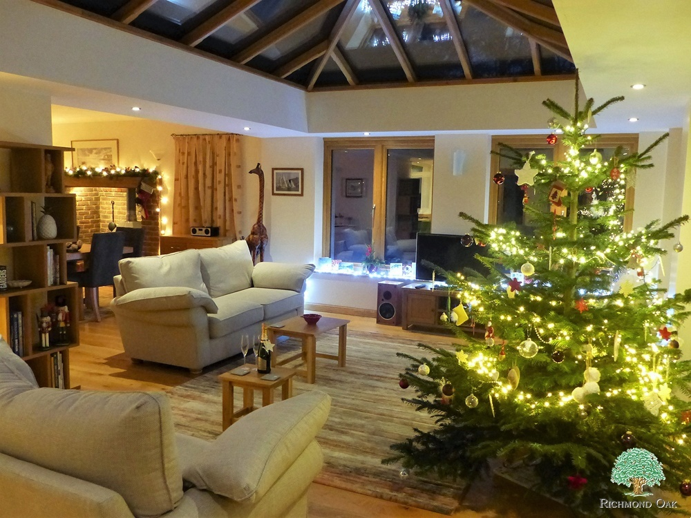 Wooden Orangery at Christmas