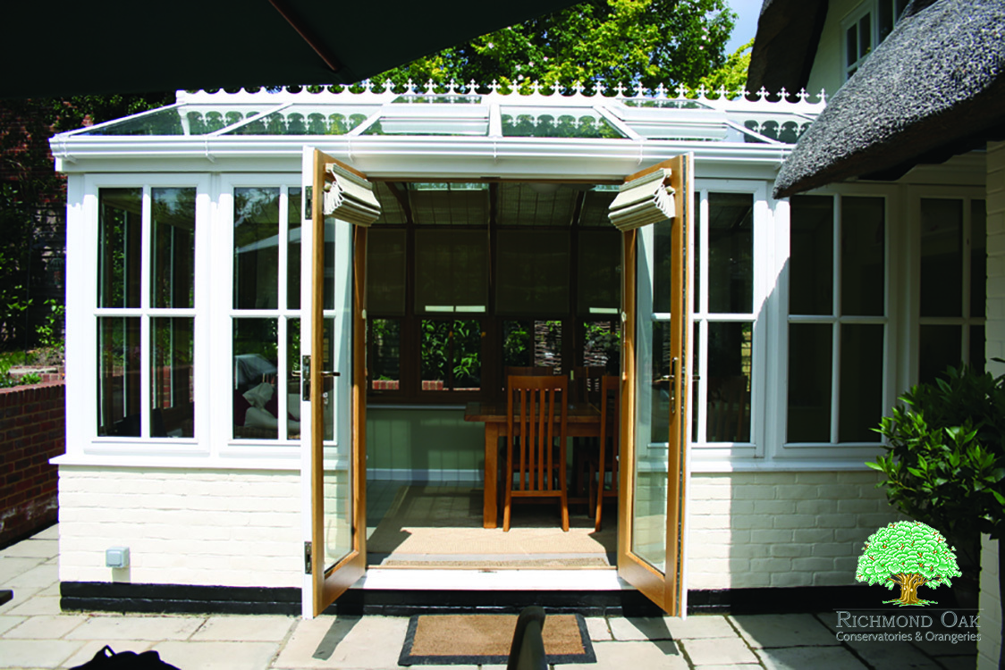 oak framed conservatory extensions with french doors