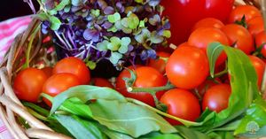 Home grown garden vegetables