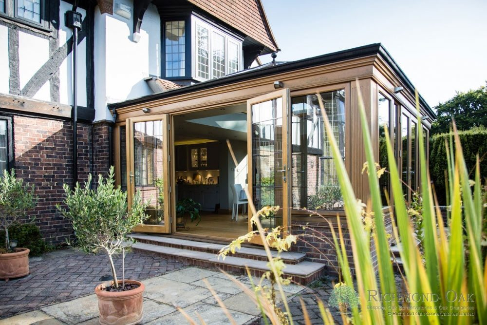 Wooden Orangery kitchen extension