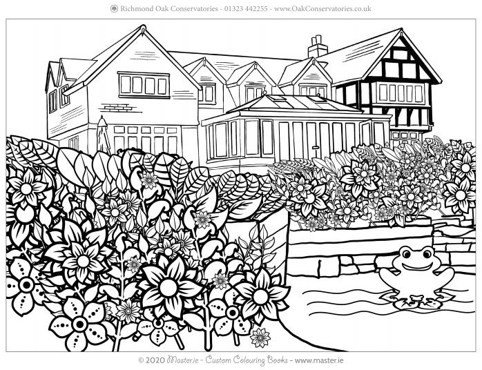 Richmond Oak Colouring In Designs